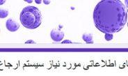 فیلدهای مورد نیاز سیستم ارجاع جدید (یزد)